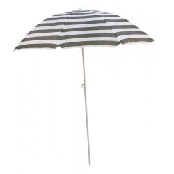 Parasol plażowy w biało-zielone pasy śr. 180cm