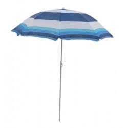 Parasol plażowy w biało-niebiesko-granatowe pasy śr.180cm