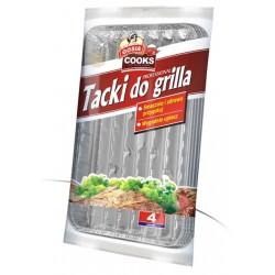 Tacki do grilla prostokątne 4szt.