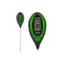 Elektroniczny tester podłoża 4w1-pH-metr Wilgotność, Nasłonecznienie, Temperatura