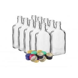 Butelka piersiówka z korkiem 200ml 10szt.