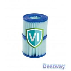 Wkład filtracyjny TYP VI antybakteryjny - 10,6cm x 8cm - 2szt.