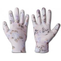Rękawice ochronne NITROX FLOWERS rozmiar 8 nitryl