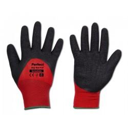Rękawice ochronne PERFECT GRIP RED FULL rozmiar 8 lateks
