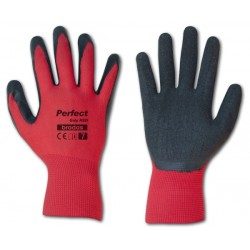 Rękawice ochronne PERFECT GRIP RED rozmiar 10 lateks