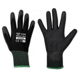 Rękawice ochronne PURE BLACK PRO rozmiar 8 poliuretan