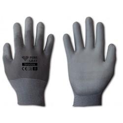 Rękawice ochronne PURE GRAY rozmiar 8 poliuretan
