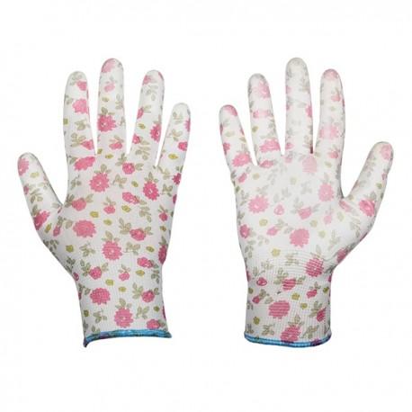 Rękawice ochronne PURE PRETTY rozmiar 6 poliuretan