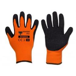 Rękawice ochronne WINTER FOX rozmiar 11 lateks