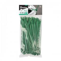 Taśma kablowa rozpinana 7,6 x 200mm GREEN 100szt.