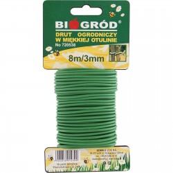 Drut ogrodniczy w miękkiej otulinie 8m/3mm