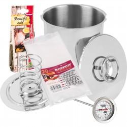 SET Szynkowar 3kg + termometr, zioła, worki 20szt.