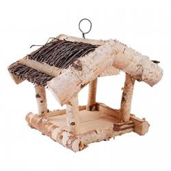 Karmnik dla ptaków z brzozy 23x20x18cm