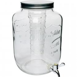 Słój 7,6L Cytrynada z kranem i filtrem - biały