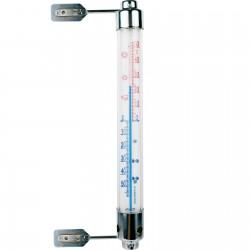 Termometr zaokienny rurkowy 200x20mm metalowe oprawy