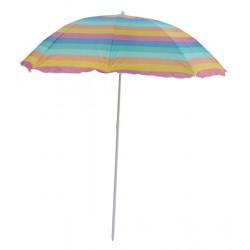 Parasol plażowy w kolorowe pasy śr. 180cm