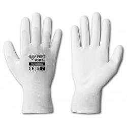 Rękawice ochronne PURE WHITE rozmiar 7 poliuretan