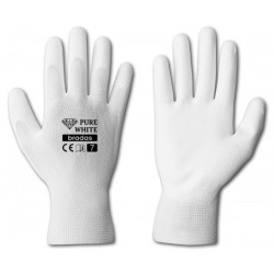 Rękawice ochronne PURE WHITE rozmiar 9 poliuretan