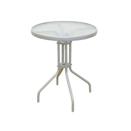 Stół balkonowy okrągły metalowy