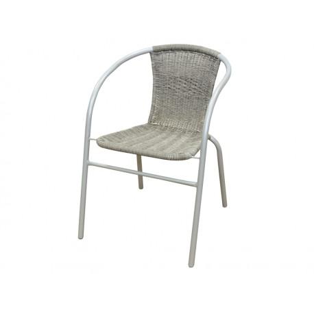 Krzesło balkonowe metalowe popielate