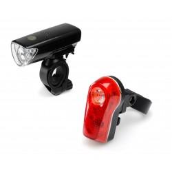Zestaw lamp rowerowych, Falcon Eye DUO 50lm / 8lm