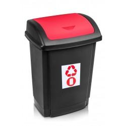 Kosz na śmieci Swing 25L - czerwony