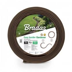 Zestaw obrzeży trawnikowych EASY BORDER brązowe
