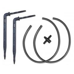 Kroplownik patykowy, kątowy z dwójnikiem i podwójnym wężykiem 50cm