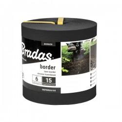 Obrzeże trawnikowe BORDER 6m x 15cm czarne