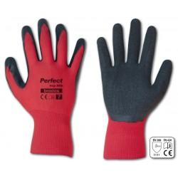 Rękawice ochronne PERFECT GRIP RED rozmiar 9 lateks LUZ