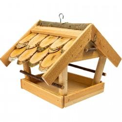 Karmnik dla ptaków 24x32x27cm kryty gontem