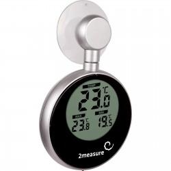 Elektroniczny termometr okienny - solar z przyssawką