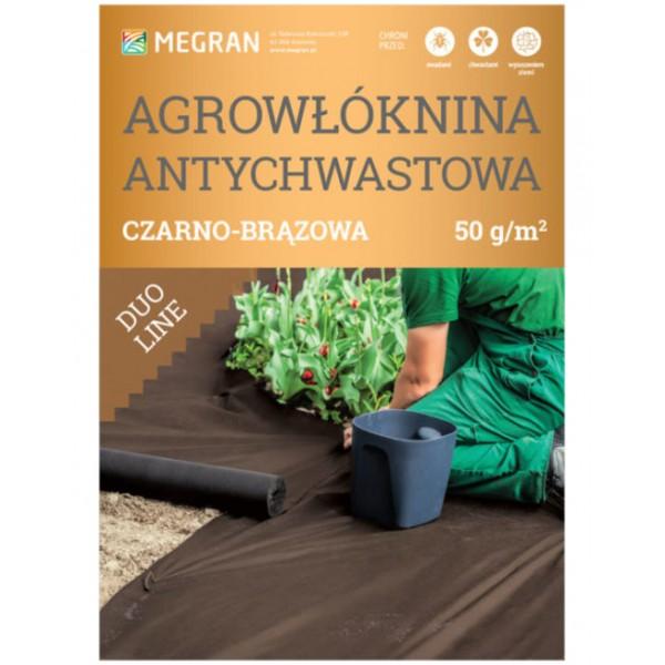 Agrowłóknina DUO-LINE 50g/m2 antychwastowa 1,6x10m czarno-brązowa