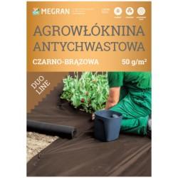 Agrowłóknina DUO-LINE 50g/m2 antychwastowa 1,6x100m czarno-brązowa