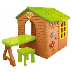 Domek ogrodowy ze stolikiem i krzesełkiem 180x122x120,5cm