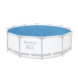 Pokrywa solarna na basen śr. 366cm stelażowy/rozporowy BESTWAY