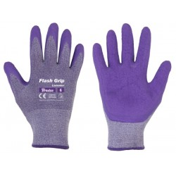 Rękawice ochronne FLASH GRIP LAVENDER rozmiar 8 lateks