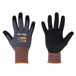Rękawice ochronne FLEX GRIP SANDY rozmiar 8 nitryl