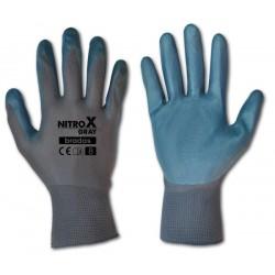 Rękawice ochronne NITROX GRAY rozmiar 8 nitryl