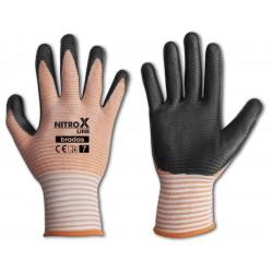 Rękawice ochronne NITROX LINE rozmiar 8 nitryl