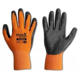 Rękawice ochronne NITROX ORANGE rozmiar 8 nitryl