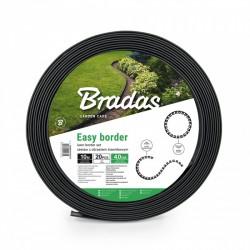 Zestaw z obrzeżem trawnikowym EASY BORDER 40mm grafit