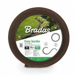 Zestaw z obrzeżem trawnikowym EASY BORDER 40mm brąz