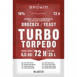 Drożdże gorzelnicze Turbo Torpedo 72h - 120g