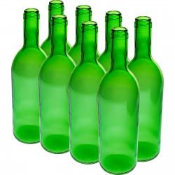 Butelka Zielona na wino 0,75L - 8szt.