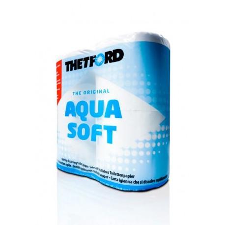 AQUA SOFT 4 rolki papier toaletowy