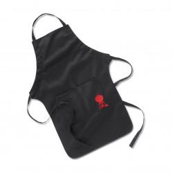 Fartuch do grilla, czarny z czerwonym logo