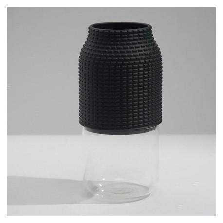 Wazon czarny chapeaux pour vase 3