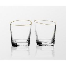 Szklanki 2 szt. happycell whisky (gold)