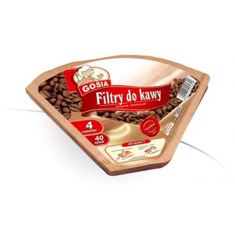 Gosia Filtry do kawy 4 etykieta/40szt.